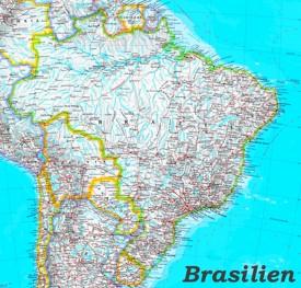 Große detaillierte karte von Brasilien