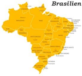 Verwaltungskarte von Brasilien