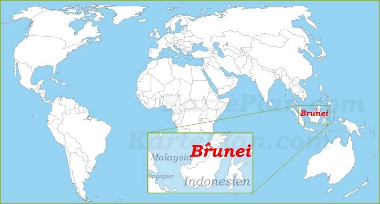 Brunei auf der Weltkarte
