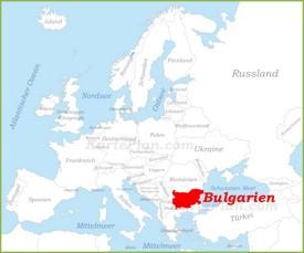 Bulgarien auf der karte Europas