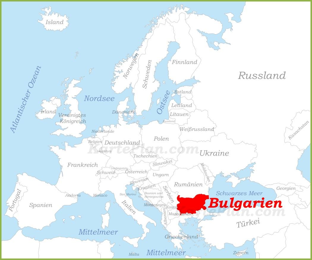 Karte Bulgarien.Bulgarien Auf Der Karte Europas