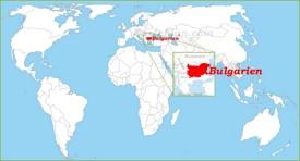 Bulgarien auf der Weltkarte