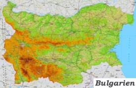 Bulgarien Straßenkarte