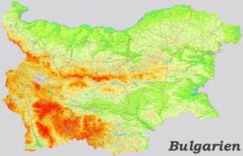 Große detaillierte karte von Bulgarien