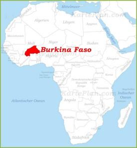 Burkina Faso auf der karte Afrikas