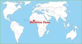 Burkina Faso auf der Weltkarte