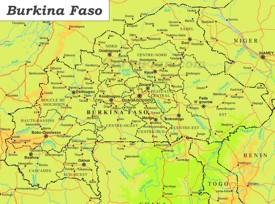 Große detaillierte karte von Burkina Faso