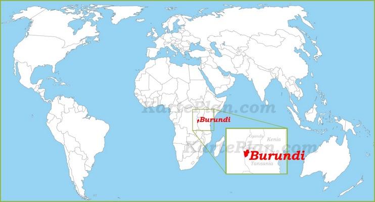 Burundi auf der Weltkarte