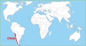 Chile auf der Weltkarte