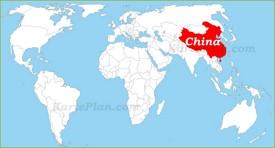 China auf der Weltkarte