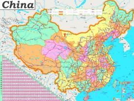 China Straßenkarte