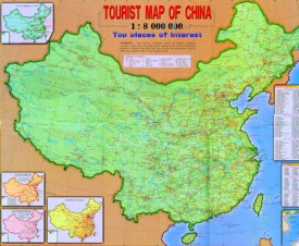 China touristische karte