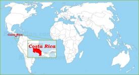 Costa Rica auf der Weltkarte