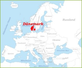Dänemark auf der karte Europas