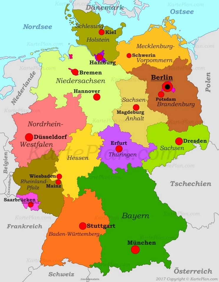 Deutschland politische karte