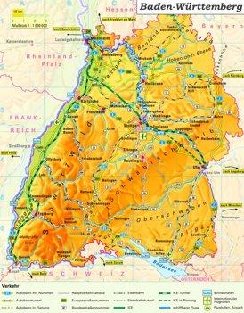 Baden Wurttemberg Karte Deutschland Landkarten Von Baden