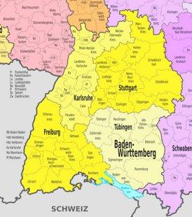 Schwaben Karte Deutschland.Baden Württemberg Karte Deutschland Landkarten Von Baden Württemberg