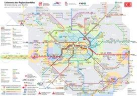 Schienennetz karte von Brandenburg