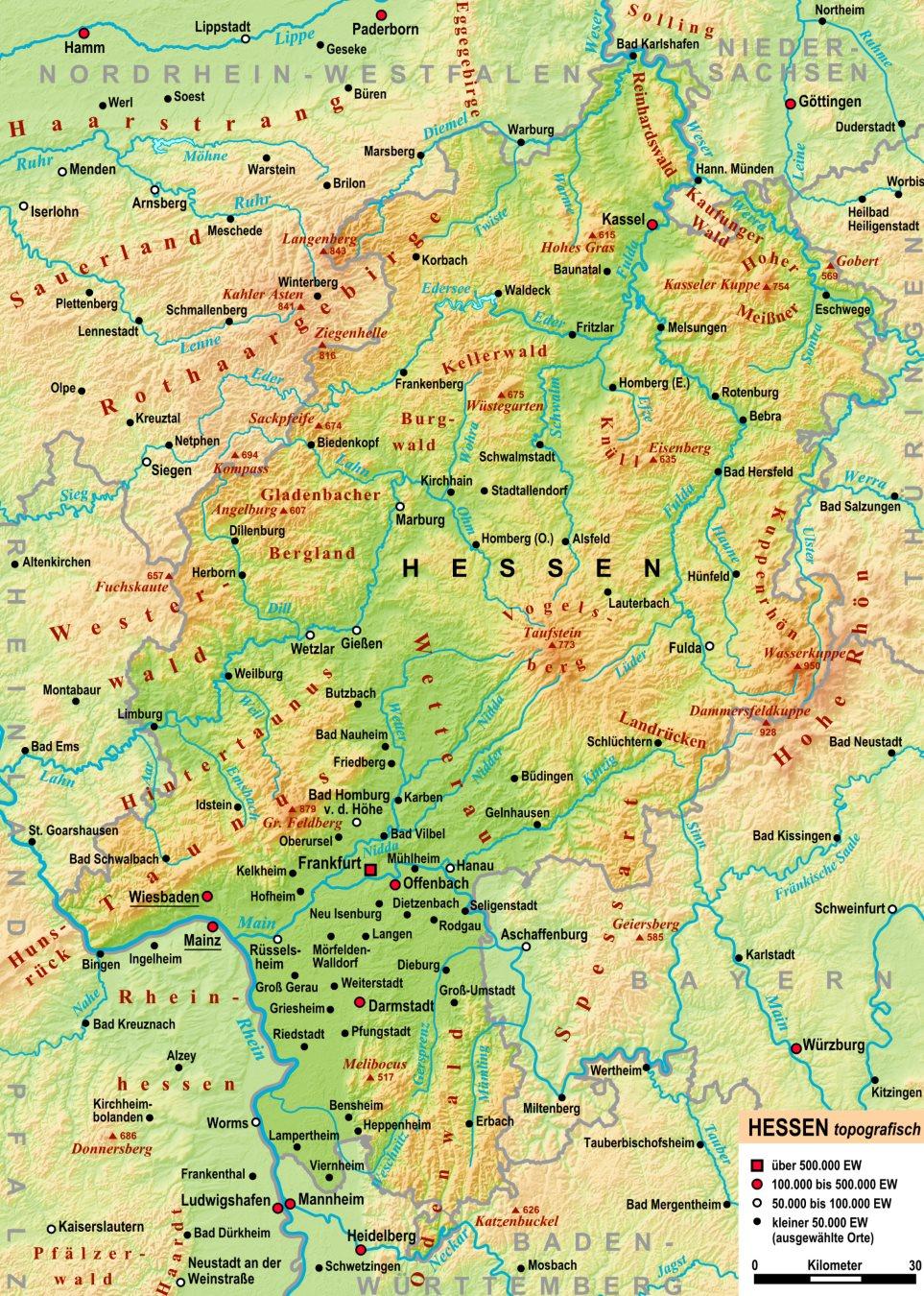 K303274sten Andalusien Karte.Physische Karte Deutschland