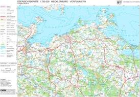 Große detaillierte karte von Mecklenburg-Vorpommern