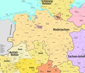 Verwaltungskarte von Niedersachsen