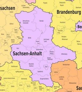 Verwaltungskarte von Sachsen-Anhalt