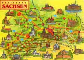 Sachsen touristische karte