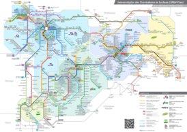 Schienennetz karte von Sachsen
