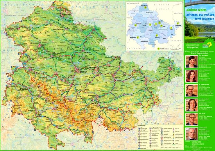 Thüringen touristische karte