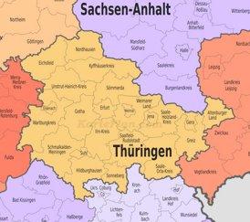 Verwaltungskarte von Thüringen