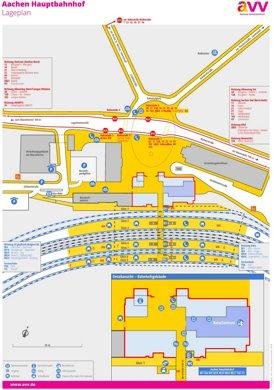 Aachen Hauptbahnhof plan