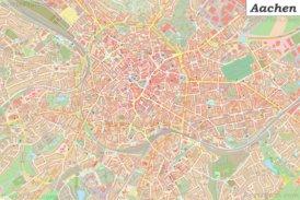 Große detaillierte stadtplan von Aachen