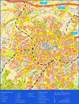 Stadtplan Aachen mit sehenswürdigkeiten