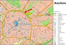Touristischer stadtplan von Aachen
