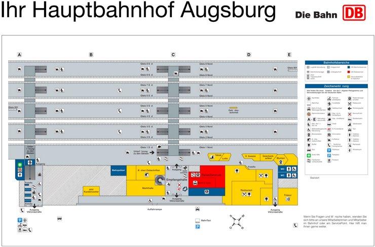 Augsburg Hauptbahnhof plan