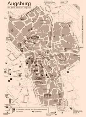 Augsburg Innenstadtplan