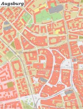 Karte von Augsburgs Zentrum