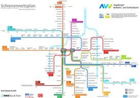 Schienennetzplan Augsburg