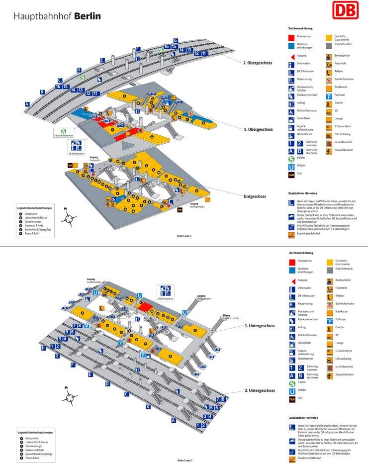Berlin Hauptbahnhof plan