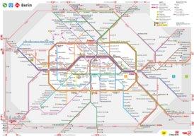 Berlin S-Bahn und U-Bahn plan