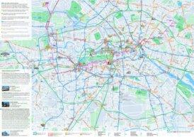 Berlin Straßenbahn, S-Bahn, U-Bahn, MetroBus und BusNetz plan mit sehenswürdigkeiten