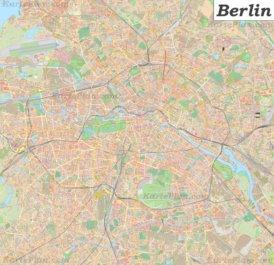 Große detaillierte stadtplan von Berlin