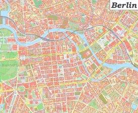 Karte von Berlin Zentrum