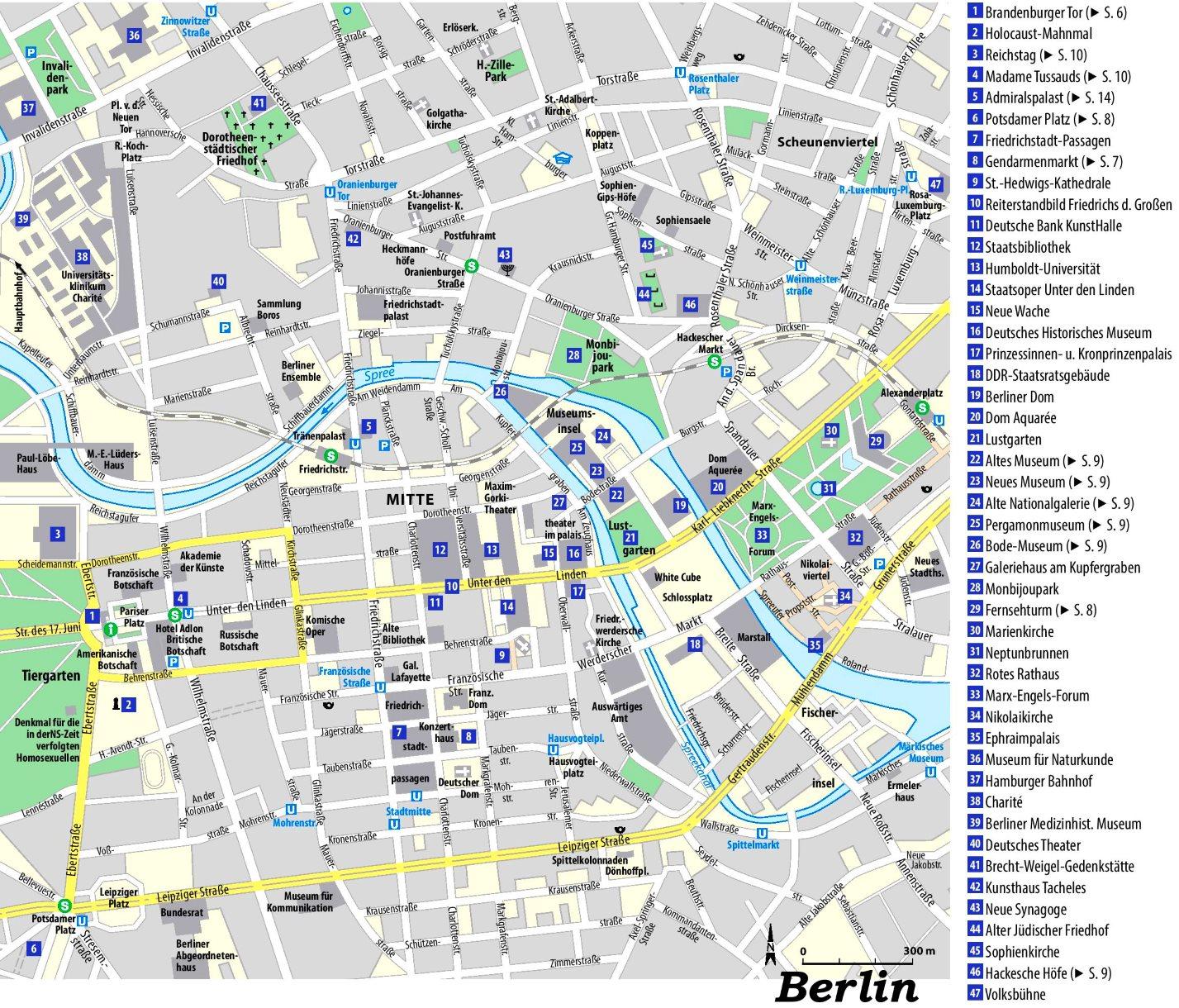 Stadtplan Berlin Mit Sehenswurdigkeiten