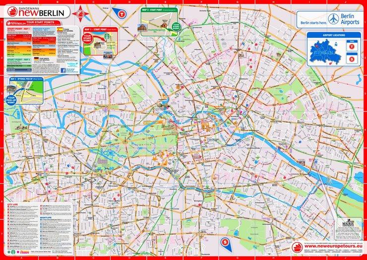 Touristischer stadtplan von Berlin