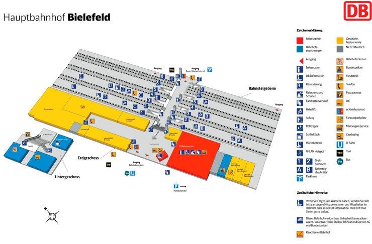 Bielefeld Hauptbahnhof plan