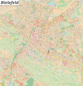 Große detaillierte stadtplan von Bielefeld