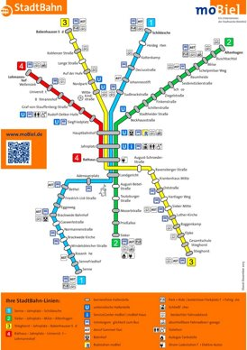 Stadtbahnnetzplan Bielefeld