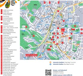 Stadtplan Bielefeld mit sehenswürdigkeiten