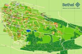 Touristischer stadtplan von Bethel - Bielefeld